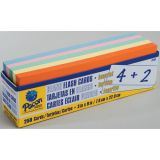 Blank Flash Cards, Assorted Colors, 250 cards, 3 x 9