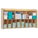 Serenity® Diaper Organizer, Natural Finish