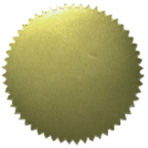 Gold sticker blank