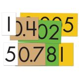 Sensational Math™ Place Value Cards, 4-Value Decimals to Whole Numbers, Set of 40