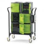 Tech Tub2® Modular Cart, Holds 32 devices and includes 10-port syncing USB hub (for iPads®)
