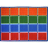 Blocks Abound™ Rug, 5'4 x 7'8 Rectangle, Primary