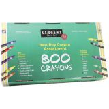 Sargent Art® Best-Buy Standard-Size Crayon Assortment, 800 Count