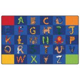 A to Z Animals! Rug, 8'4 x 13'4 Rectangle, Primary Colors