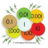 Sensational Math™ Jumbo Magnetic Place Value Demonstration Discs, 7-Value