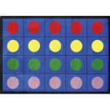 Lots of Dots™ Rug, 5'4 x 7'8 (20 dots), Primary