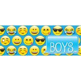 Laminated Hall Pass, Emoji Boys Pass