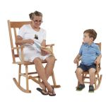 Classic Oak Rocking Chair, Adult