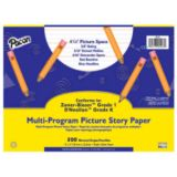 Picture Story Paper, 12 x 9, D'Nealian™ (K), Zaner-Bloser™ (1), Ream