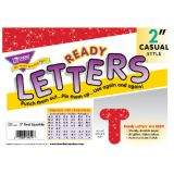 2 Uppercase Casual Ready Letters®, Red Sparkle