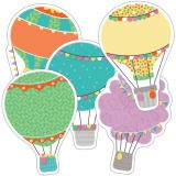 Up and Away Colorful Cut-Outs®, Hot Air Balloons