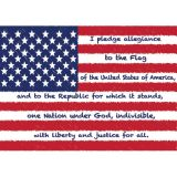 Die-Cut Magnets, U.S. Pledge of Allegiance