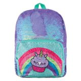 Magic Sequin Backpack- Periwinkle Pocket Reveal - Unicorn/Cupcake