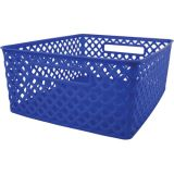 Woven Basket, Medium, Blue