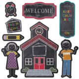 Chalk It Up! Schoolhouse Charm Bulletin Board Set