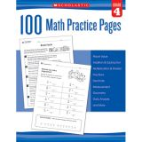 100 Math Practice Pages, Grade 4