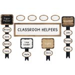 Schoolgirl Style™ Industrial Chic Job Assignment Mini Bulletin Board Set