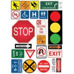 Magnetic Mini Bulletin Board Set, Safety/Class Signs
