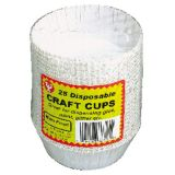 Craft Cups, White, Pack of 100