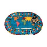 Hands Around the World™ Rug, 5'4 x 7'8 Oval