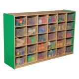 30-Tray Storage, 38H x 58W, With Translucent Trays, Green Apple™