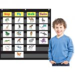 7-Pocket Pocket Chart, Black