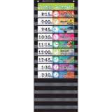 Daily Schedule Pocket Chart, Black
