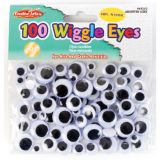 Peel 'n Stick Wiggle Eyes, Black