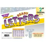 2 Uppercase Casual Ready Letters®, Silver Sparkle