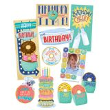 Mid-Century Mod Happy Birthday Bulletin Board Set