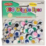 Peel 'n Stick Wiggle Eyes, Assorted Colors