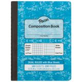 Dual Ruled Composition Book, Blue pages