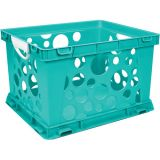 Interlocking Crate, Large, Teal