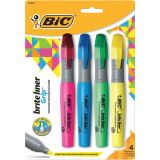 BIC® Brite Liner® Tank Highlighter, Assorted 4-pack