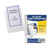 C-Line® Mini Top Loading Clear Poly Sheet Protectors