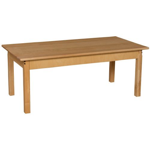 Beau Solid Birch Hardwood Table, 24 X 48 Rectangle With 22 Legs