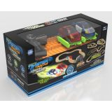 Neon Glow Twister Tracks - Dual Lane Police Chase Set