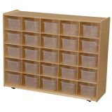 25-Tray Storage, 38H x 48W, With Translucent Trays, Natural