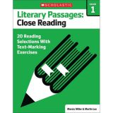 Literary Passages: Close Reading, Grade 1