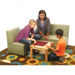 Just Like Home Modern Casual Chair, Enviro-Child Upholstery, Chocolate
