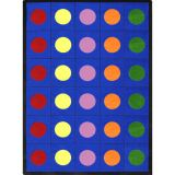 Lots of Dots™ Rug, 7'8 x 10'9 (30 dots), Primary