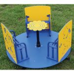 Tiny Tots Spinner, Blue & Yellow