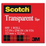 Scotch® Transparent Tape, 1/2 x 1296