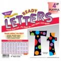 Playful Patterns 4 Uppercase/Lowercase Ready Letters® Combo Pack, Neon Dots
