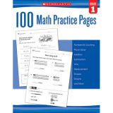 100 Math Practice Pages, Grade 1