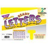 2 Uppercase Casual Solids Ready Letters®, Yellow