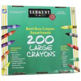 Sargent Art® Best-Buy Large-Size Crayon Assortment, 200 Count