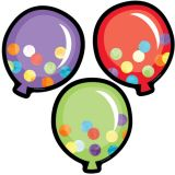 Celebrate Learning Colorful Cut-Outs®, Balloons