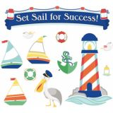 S.S. Discover Set Sail for Success! Bulletin Board Set