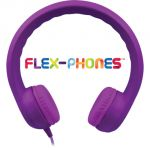 Flex-Phones™ Indestructible Foam Headphones, Purple